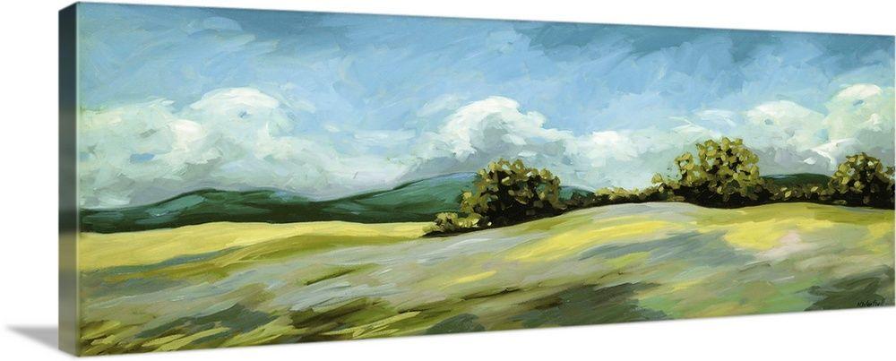 Lavender Breeze Panel Green In 2020 Green Wall Art Gallery Wrap Canvas Art