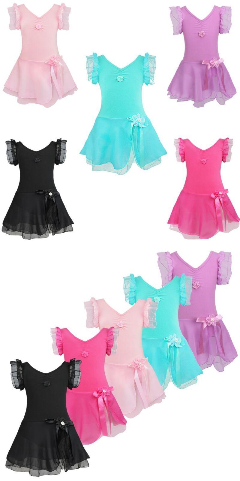 815773d4d Kids Dancewear 152345  Us Toddler Girl Kid Gymnastics Dance Dress ...