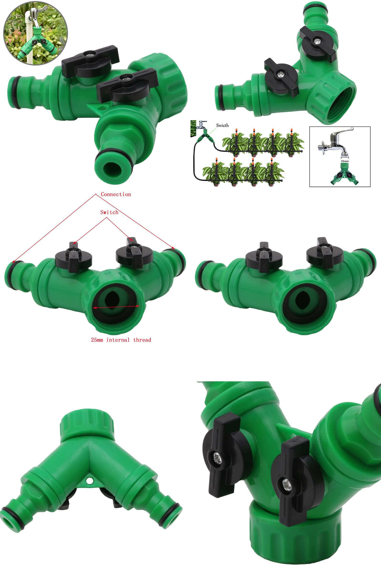 Visit To Buy Garden 2 Way Adapter Y Tap Connector Fitting Switch 4 Internal Irrigation