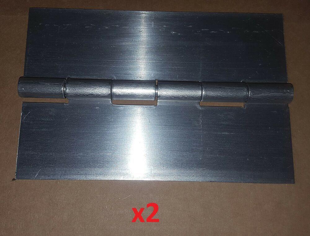 2 Pc 090 Aluminum Piano Hinge 6 X 4 Heavy Boat Door Sheet Metal Continuous Diy Sheet Metal Metal Door Metal