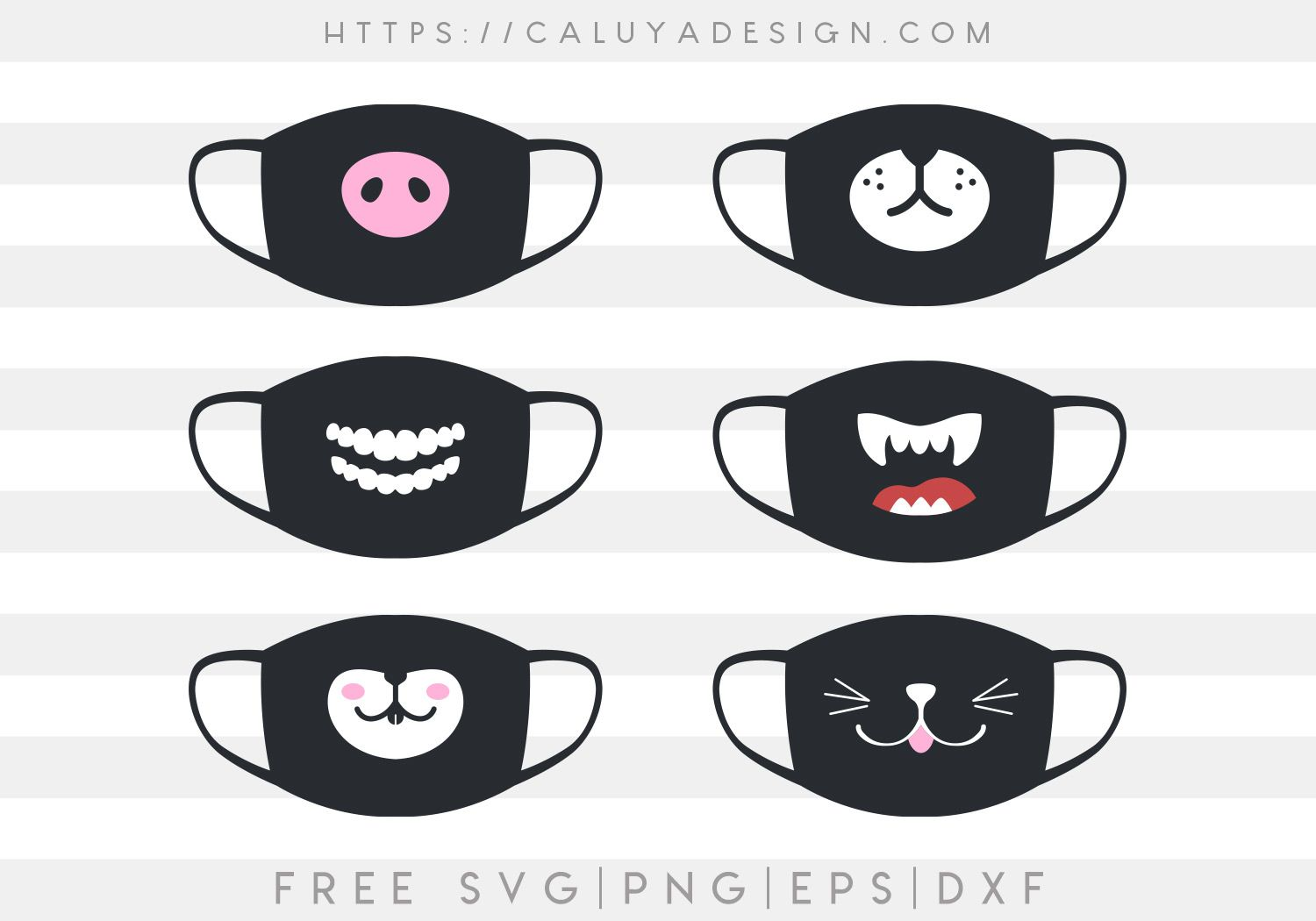 Free Funny Mask Mouth Svg Png Eps Dxf By Caluya Design In 2020 Svg Funny Mask Mask Design