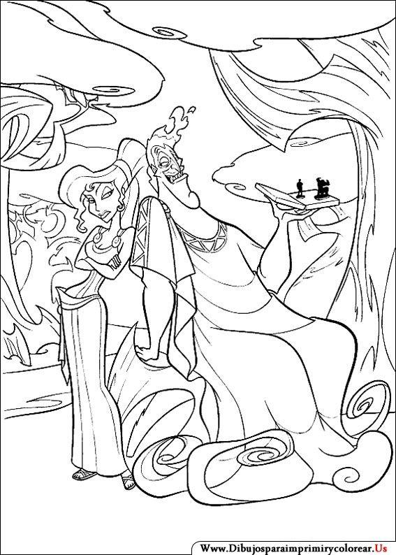 Dibujos de Hercules para Imprimir y Colorear | Disney Villains ...