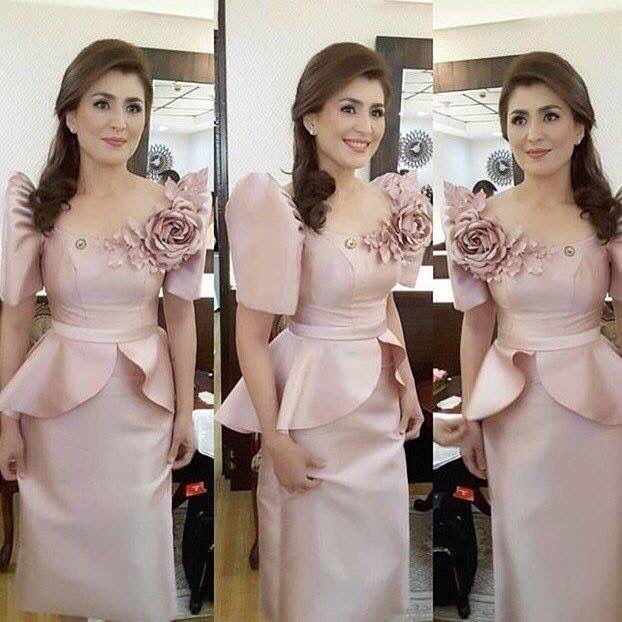 By Cary Santiago Modern Filipiniana Dress Filipiniana Dress Modern Filipiniana Gown
