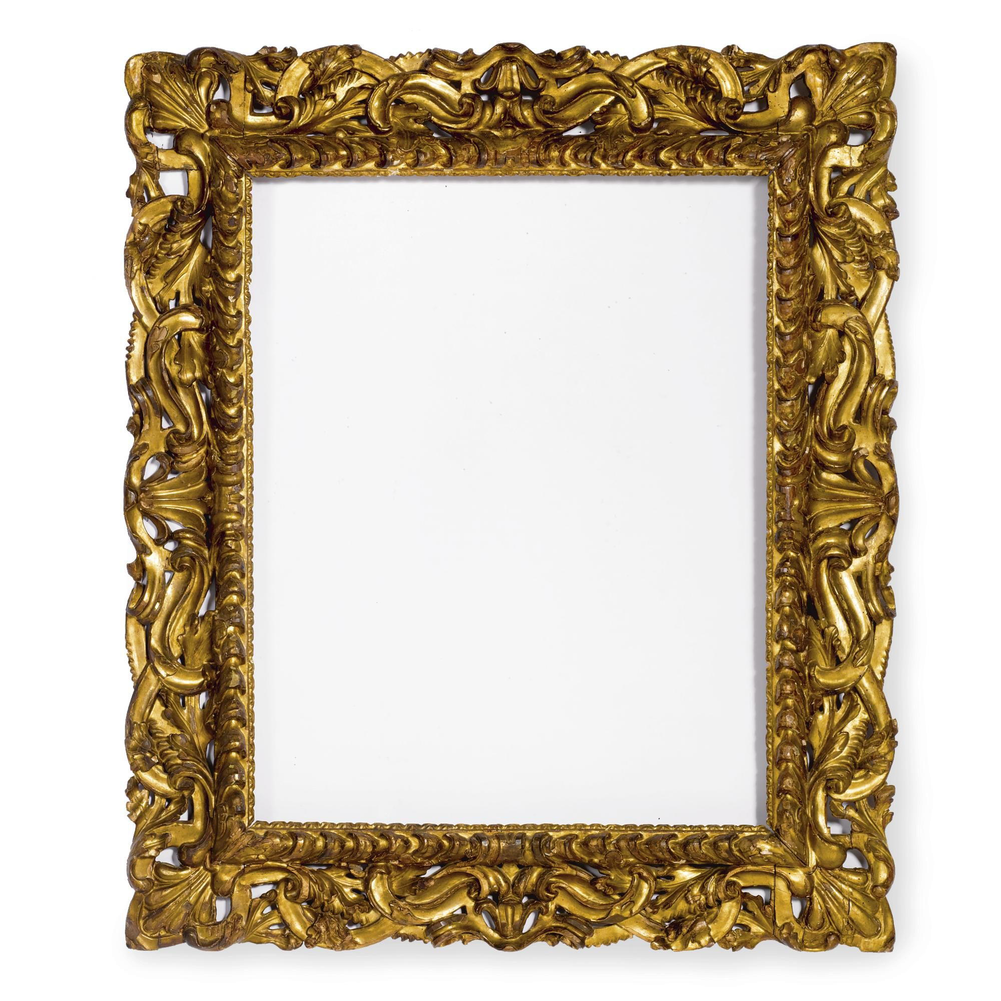 An italian baroque giltwood frame florence 17th century with a an italian baroque giltwood frame florence 17th century with a gadrooned border surrounded by scrolling jeuxipadfo Image collections