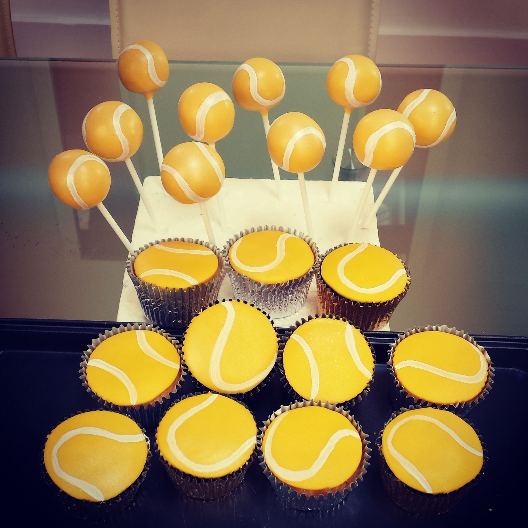 Tennis Ball Cake Pops And Cupcakes
