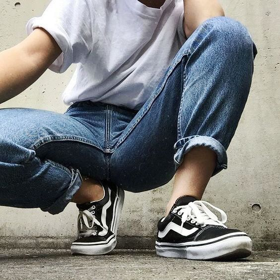 Vans Old Skool In Black True White Fashion Aesthetic Clothes