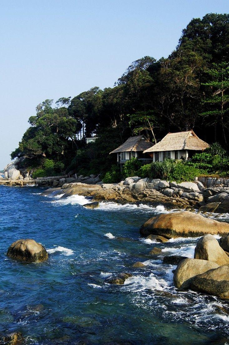 Bintan Island is just a 45-minute ferry ride from Singapore and a favorite of urbanites. #Jetsetter Banyan Tree Bintan