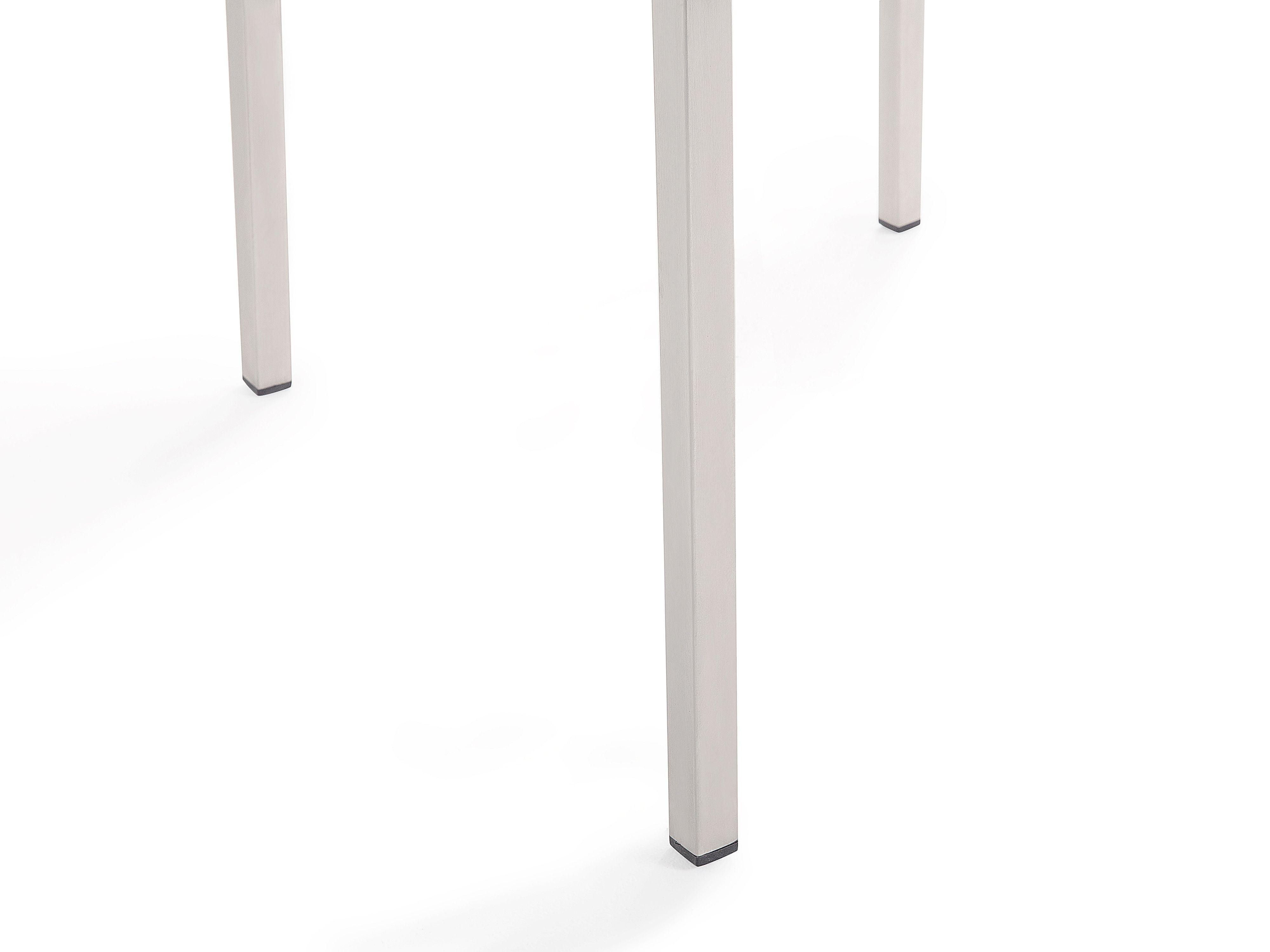 Tavolo E Sedie Rattan Bianco.Set Tavolo E Sedie Da Giardino In Vetro Temperato Bianco E