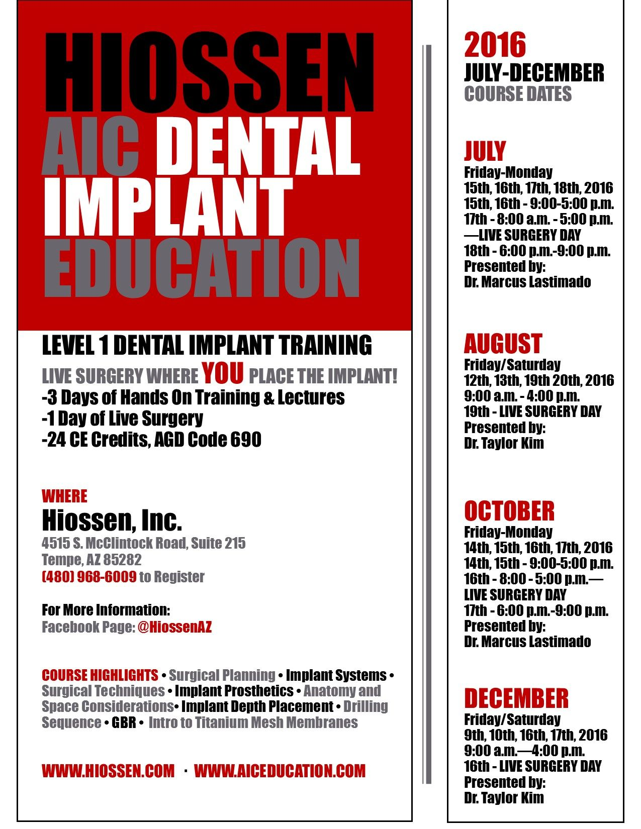 Dental Implant Quotes Hiossen Az  Dental Implant Education  Julydecember 2016 Course