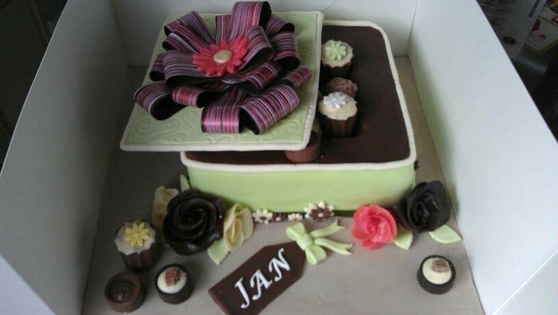 Box of chocolates cake cake decorating pinterest