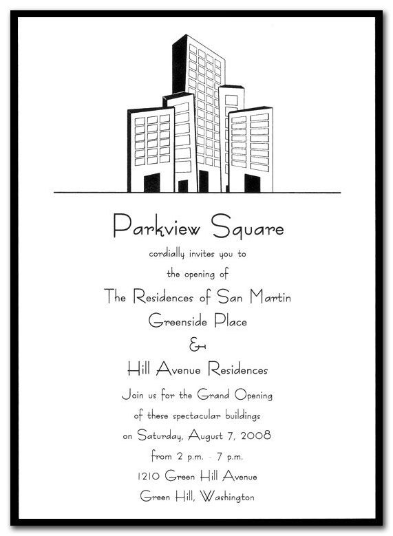 Downtown  Corporate Invitations By Invitation Consultants Item