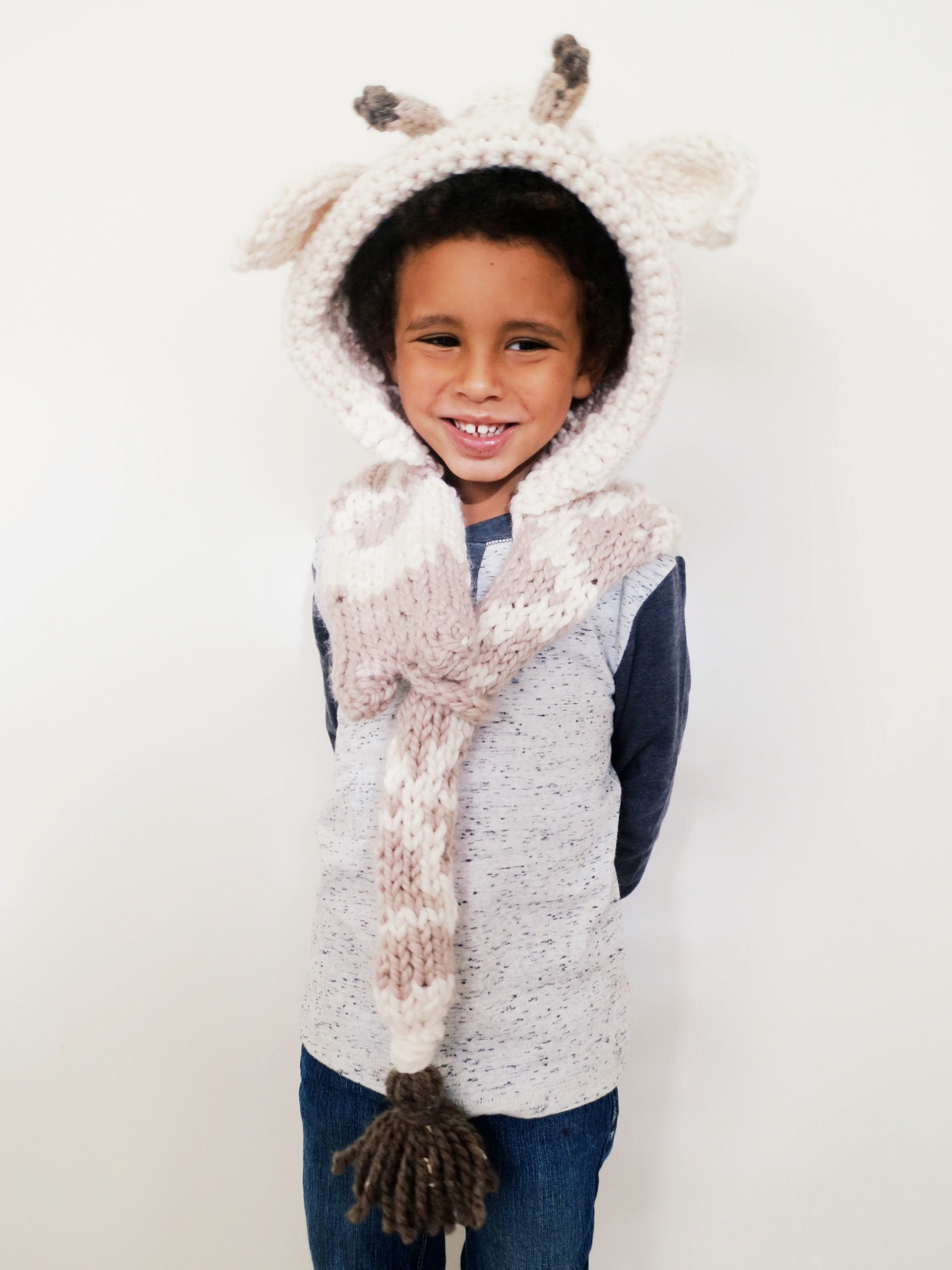 Georgie the Giraffe Hood Pattern // knitting pattern for giraffe ...