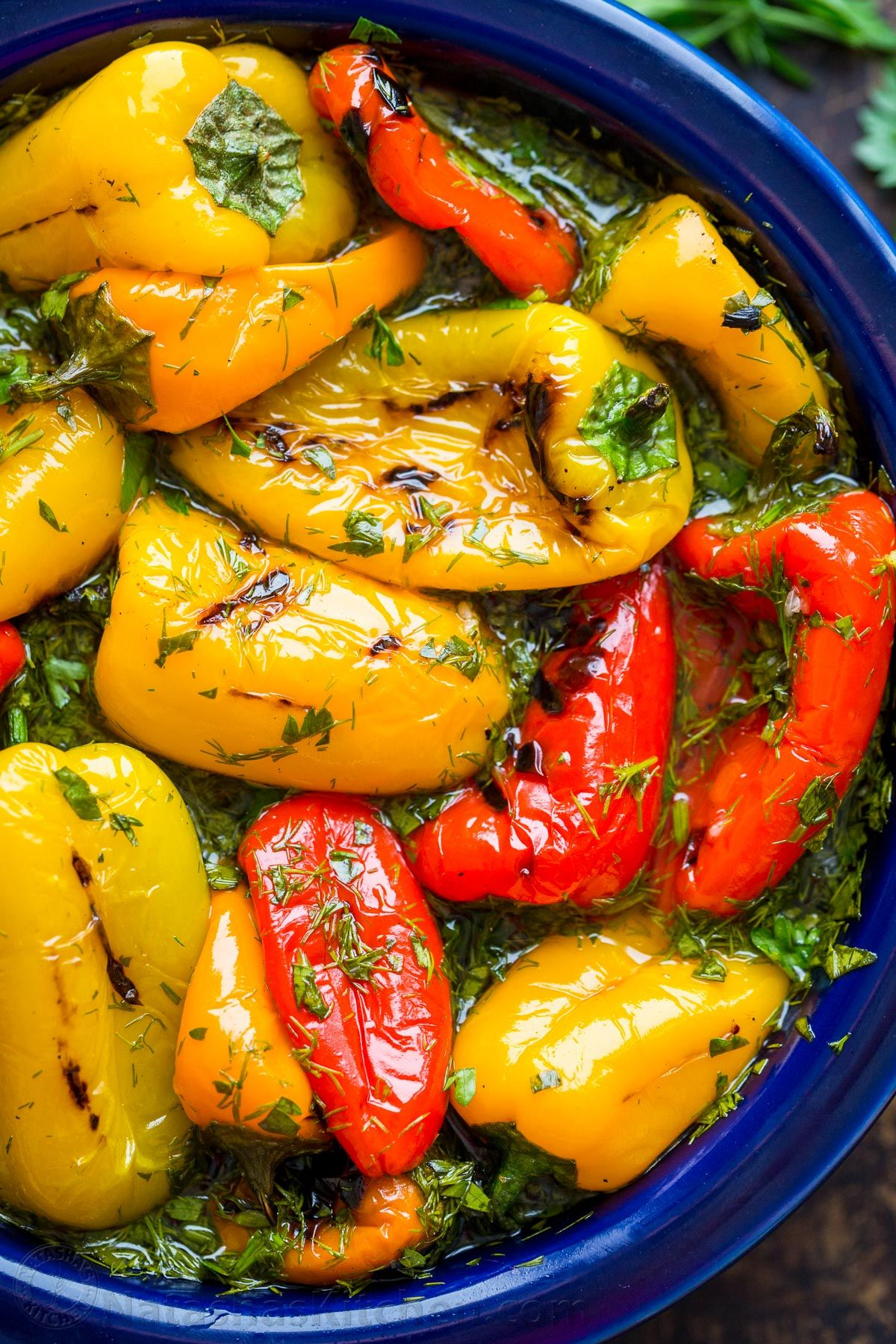 Marinated Mini Sweet Peppers Recipe (VIDEO) - Natasha's Kitchen