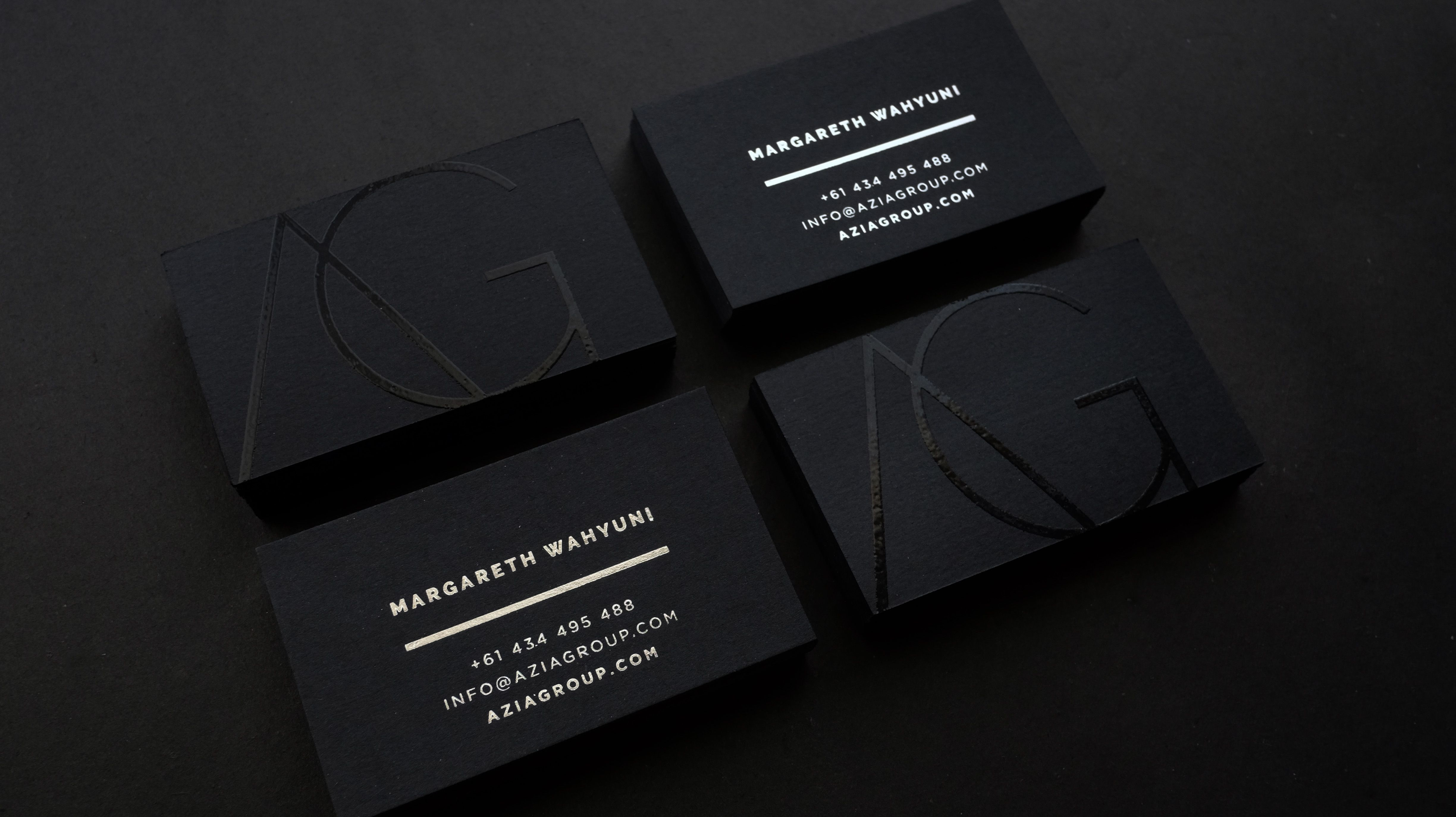 Black love. Azia Group Business Card 2 | Letterpress | Pinterest ...