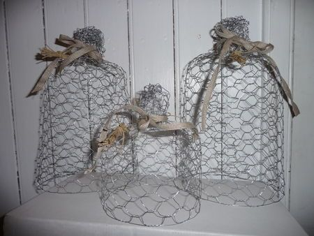 cloches en grillage poule wire art fil de fer luffarsl yd tr dsl jd pinterest. Black Bedroom Furniture Sets. Home Design Ideas