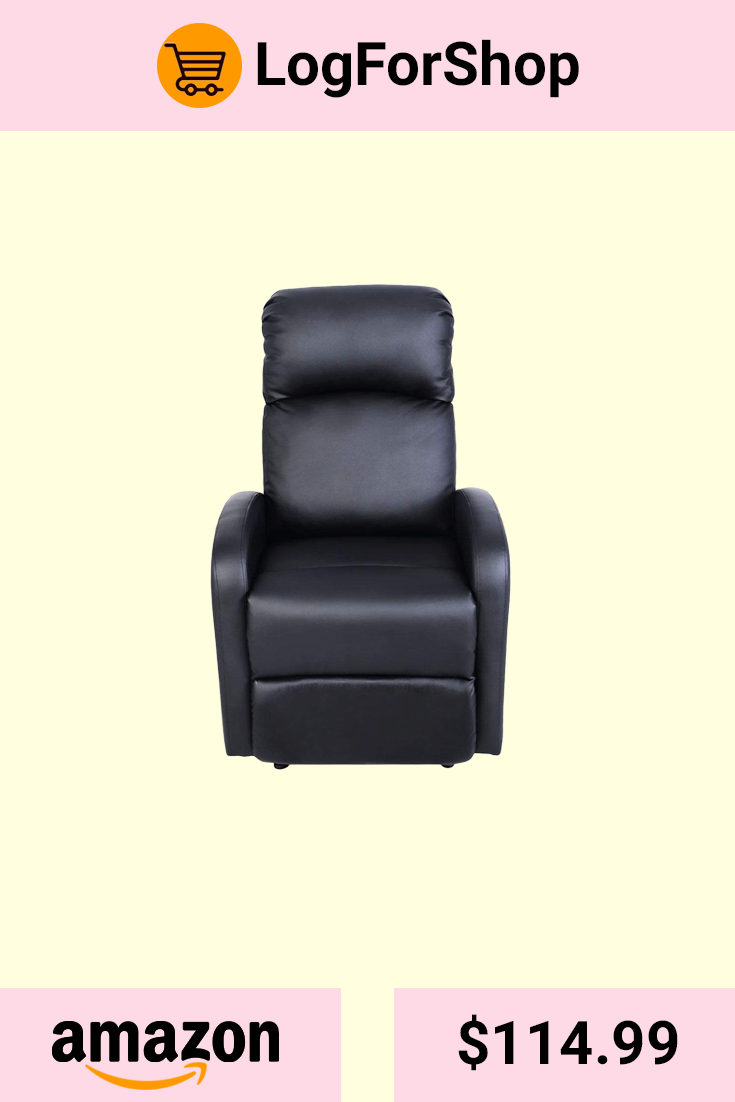 Recliner Chair Bestmassage Modern Leather Chaise Couch Single