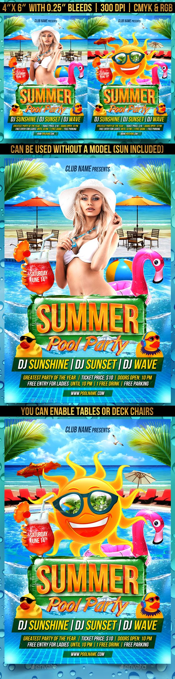 Pool Party Flyer  Party Flyer Flyer Template And Design Layouts