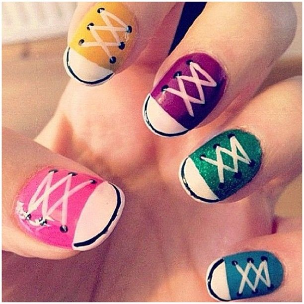 Nail Art Couture Converse Nail Art: Pin By Brett Walker On Nailed It! (With Images)