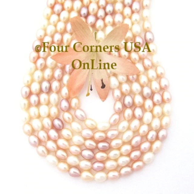 Flat Sided Pearl Beads