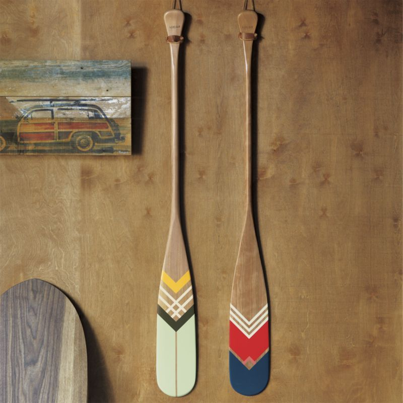 Artisan Green Canoe Paddle Cb2 I Thought These Were Cool If You Didn