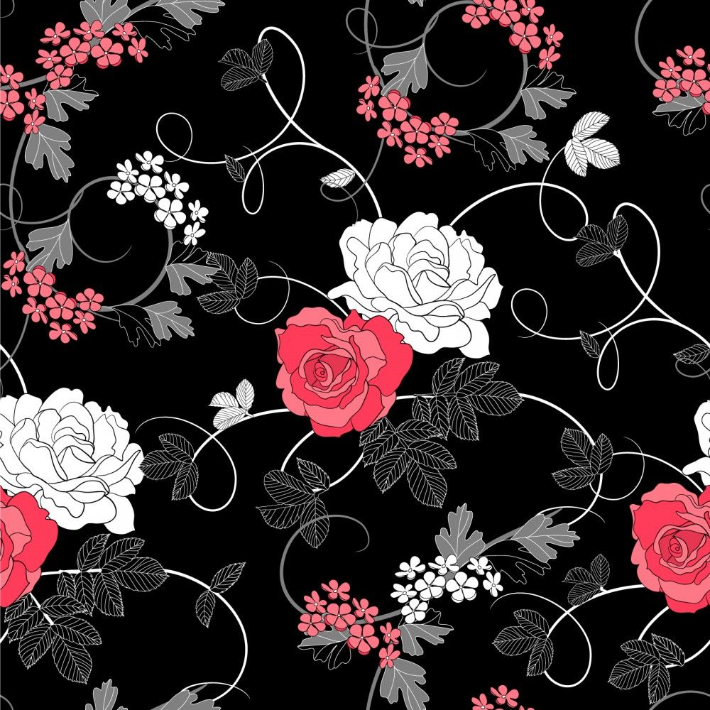 Seamless vintage pattern with victorian bouquet of colorful