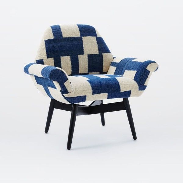 Orly Dhurrie Upholstered Chair ($599) Via Polyvore Featuring Home, Furniture,  Chairs