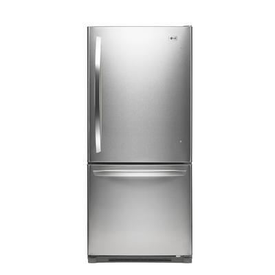 Lg 19 7 Cu Ft Bottom Freezer Refrigerator Stainless Lbn20518st Lbn20518st Home Depot Canada 129 Bottom Freezer Refrigerator Refrigerator Home Depot
