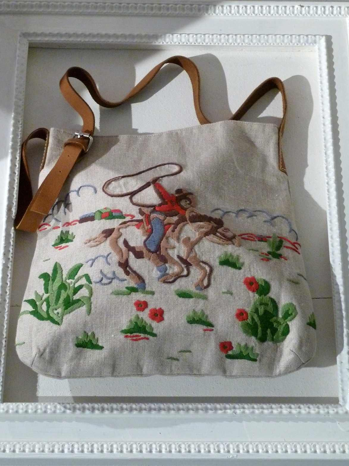 Beautiful embroidered cowboy bag from Cath Kidston for summer 2013