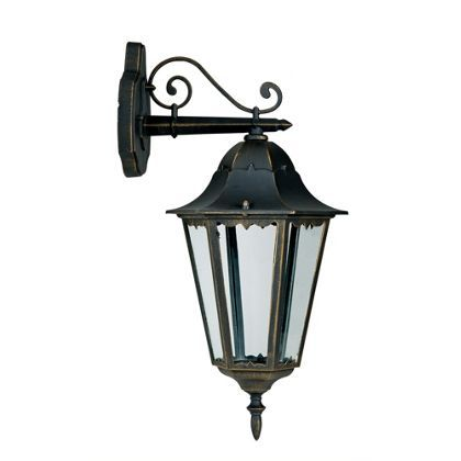 Bordeaux Lantern - Black and Gold Effect - 100W at Homebase -- Be inspired and make your house a home. Buy now.