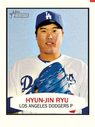 TOPPS-BUNT-HERITAGE-HYUN-JIN-RYU-LOS-ANGELES-DODGERS-ONLY-1100-EXIST