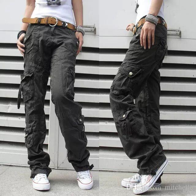Women s Winter Thick Pants Womens Army Fatigue Pants Camouflage Cargo Pants  Hip Hop Harem Baggy Pants Multi Pocket Trousers 18 5fc4a9bb961ff