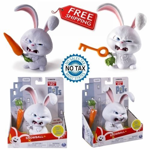 The Secret Life Of Pets Snowball Walking Talking Pets Figure White Rabbit Carrot Secretlifeofpets Snowball Animation Pixar Toys Movie Buy Now Secre