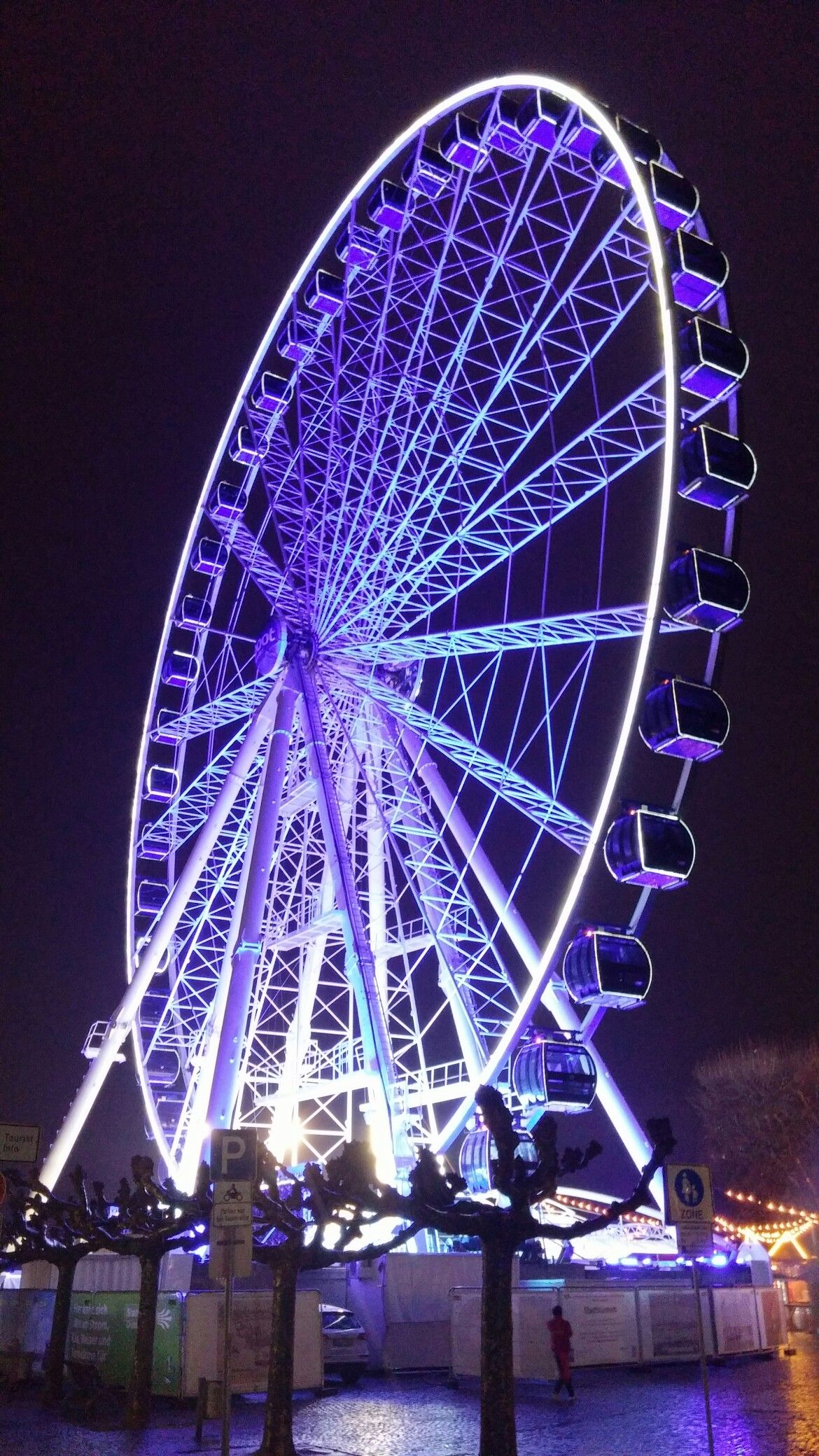 Germany Town Dusseldorf At Night Fair Grounds Travel Grounds