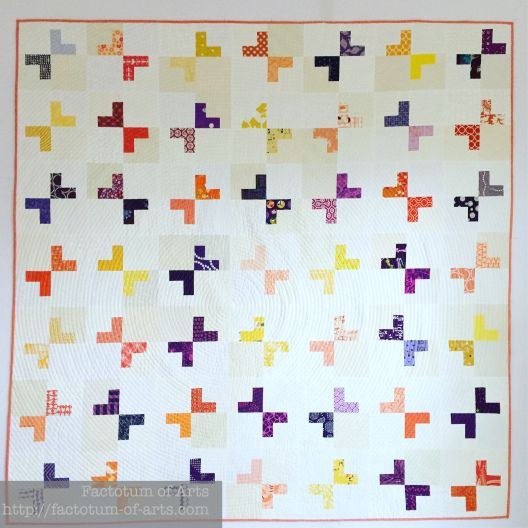 """Daughter's Love is a quilt for my Mum. Designed by me. Spiral quilting, 1/2"""" spacing Aurifil #2021"""
