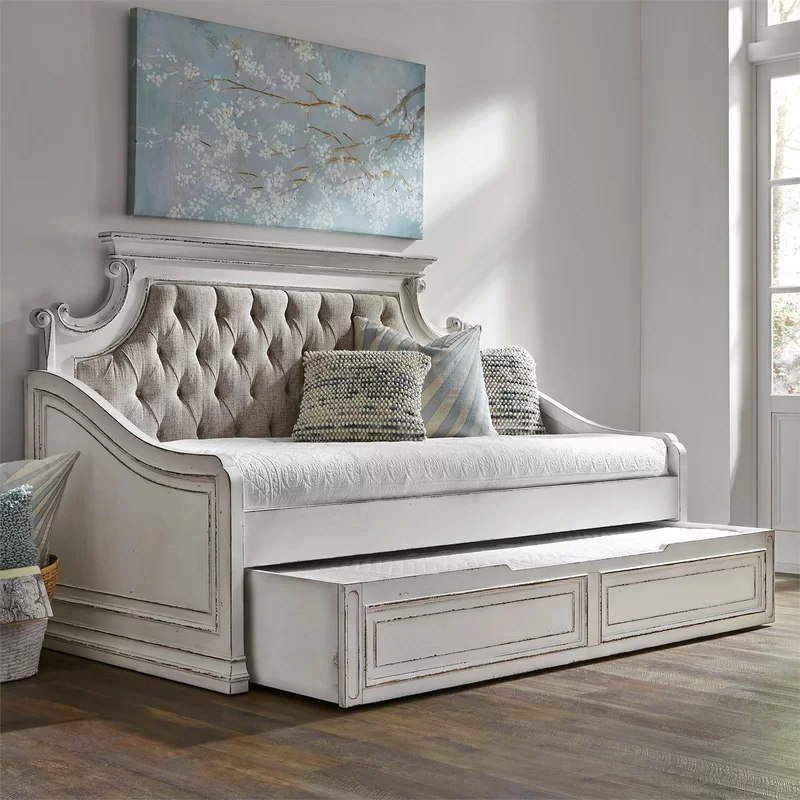One Allium Way Treport Twin Daybed with Trundle | Wayfair