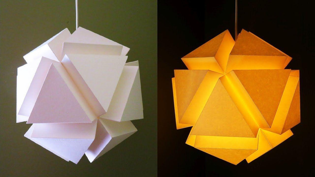 Geometric Pendant Lamp Paper Lantern Diy Ezycraft