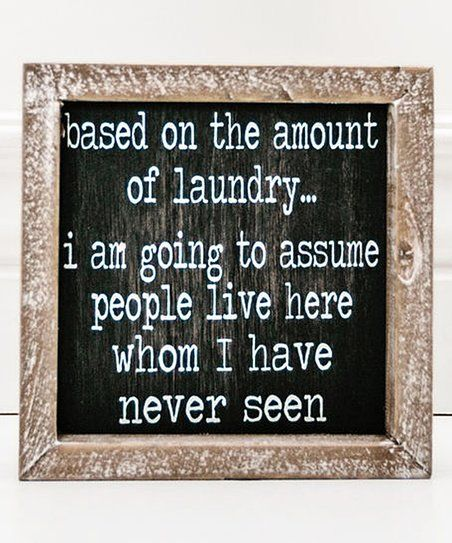 Word Wall Decor Plaques Signs Prepossessing Adams & Coamount Of Laundry Black & White Framed Wooden Sign 2018