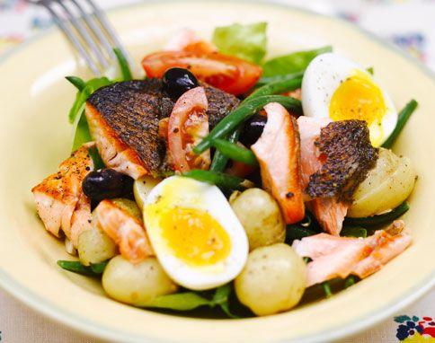 Leichte Sommerküche Jamie Oliver : Salmon nicoise rezept pinterest salat