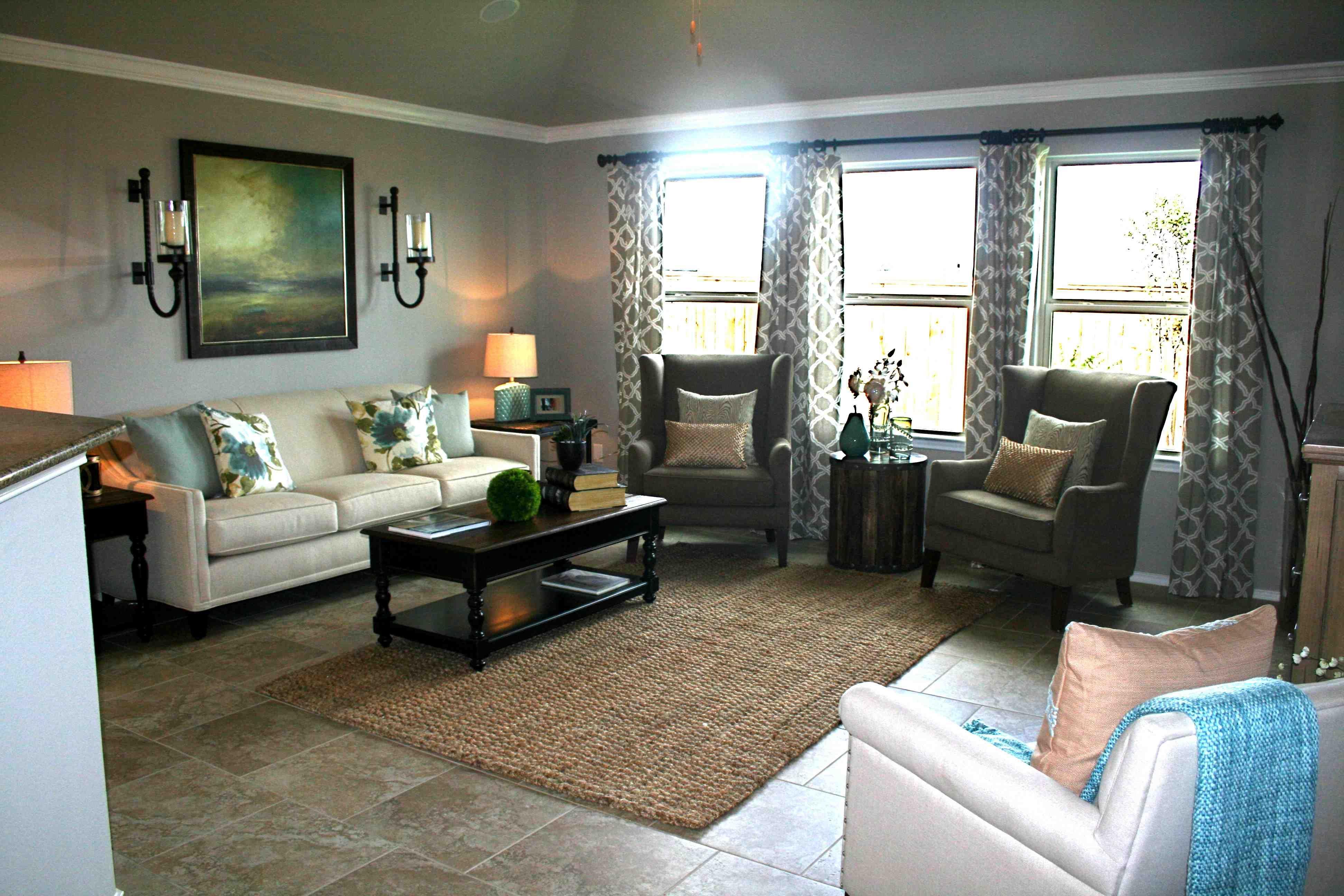 D.R. Horton & Lennar Model Homes   Home, Living room drapes