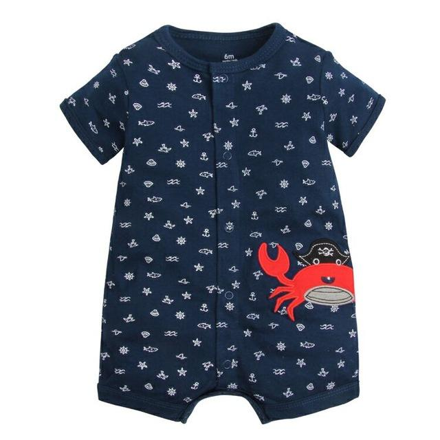 99d00e8e5f9 2018 Summer Short Sleeved Jumpsuit For Newborn Romper Character Baby Boy  Clothes and Baby Girl Clothes 0-24 Baby Rompers Summer