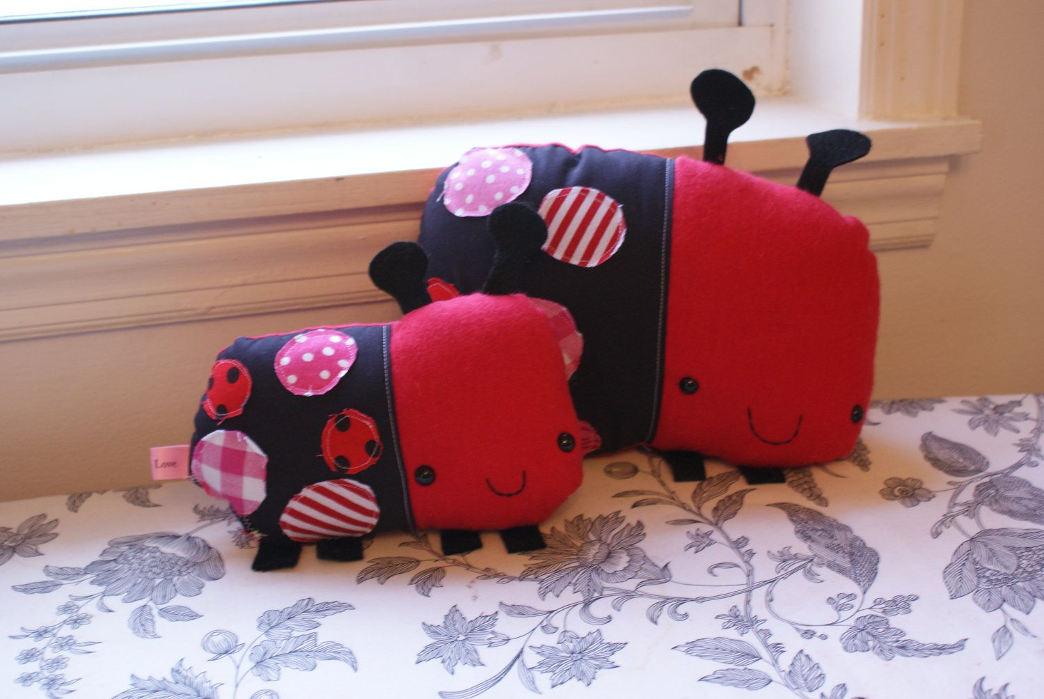 LOVE BUG lady bug softie toy plush doll, made to order