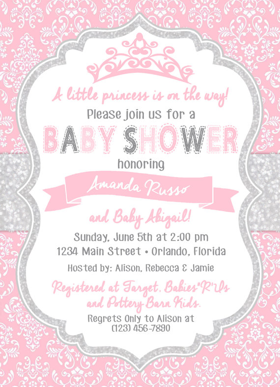 Princess Baby Shower Invitation   Life by Design Creations ...