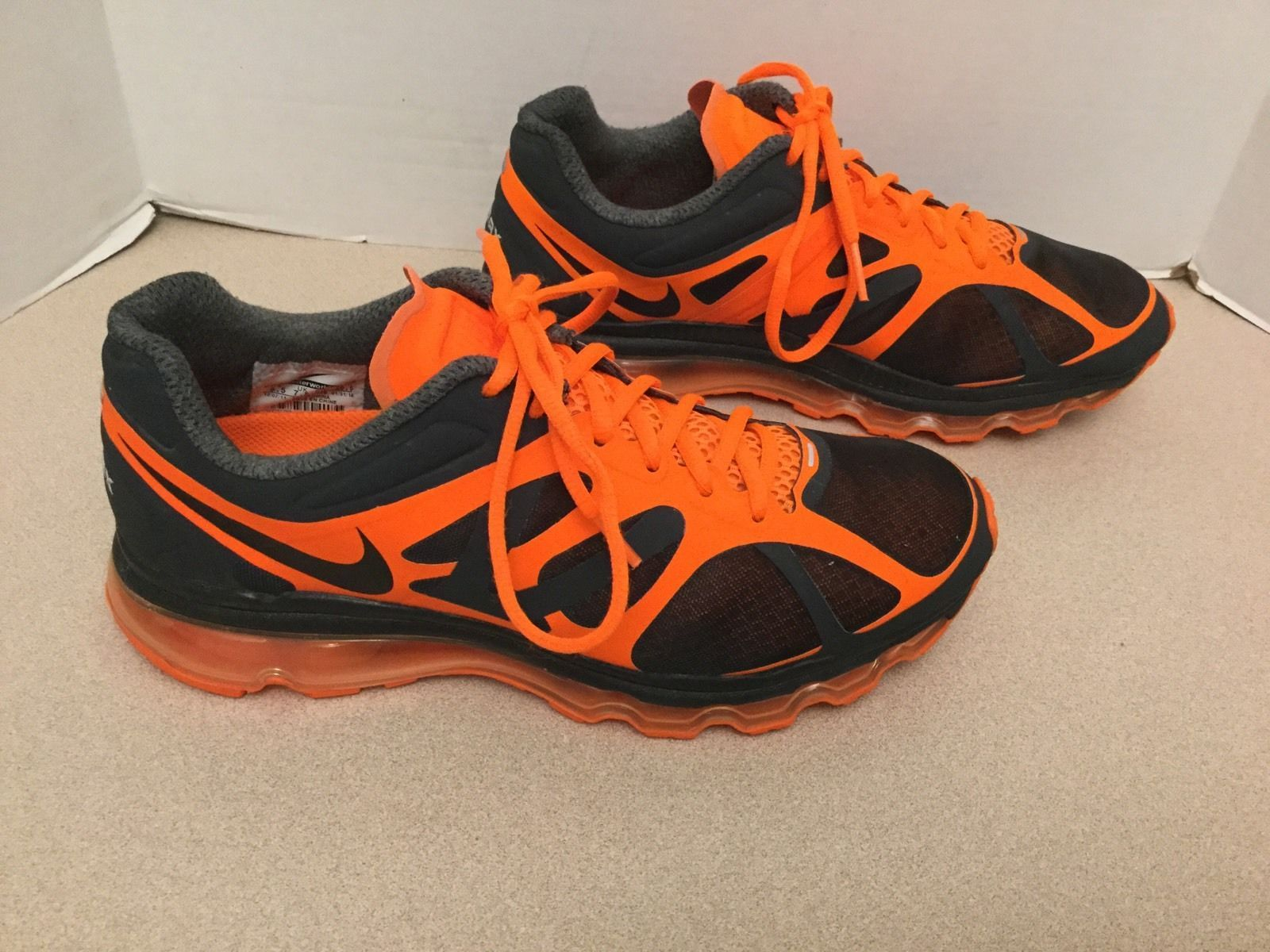 Mens Nike Air Max Neon Orange Running Shoes. Size 8.5. Excellent Condition!