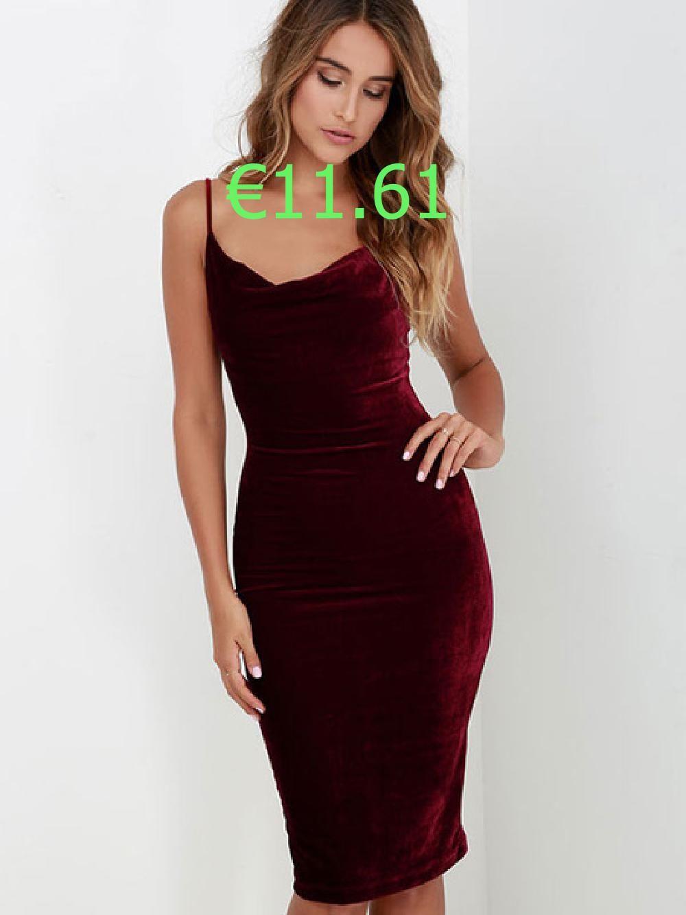 Riemen Bodycon Kleid Burgund Ruckenfreie Samt Kleid Dresses Womens Dresses Bodycon Dress
