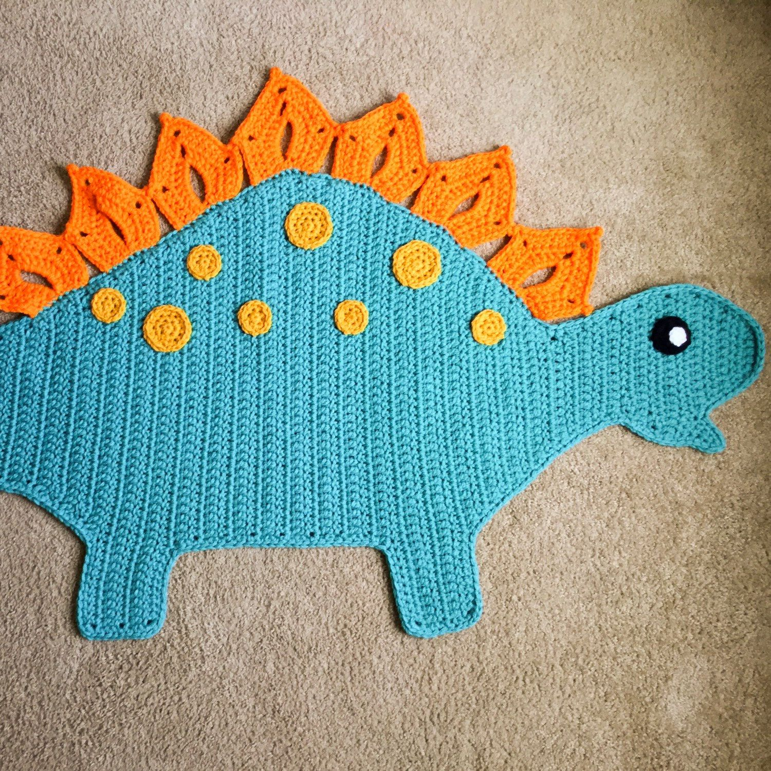 Check Out The Newest Addition To The Shop The Dinosaur Rug Animal Rug Crochet Rug Dinosaur Rug