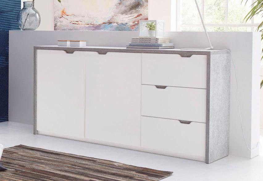 Sideboard grau, mit Schubkästen, FSC®-zertifiziert, bruno banani - sideboard für wohnzimmer