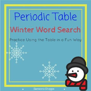 Periodic Table of Elements Winter Atomic Number Activity Atomic - copy periodic table for atomic mass