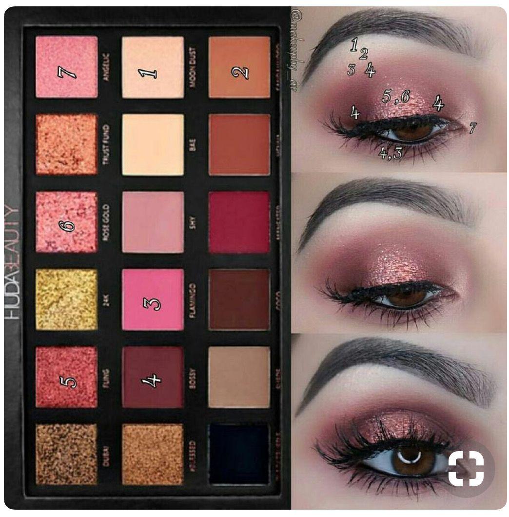Photo of Huda Beauty Rose Gold Palette #EyeMakeupPurple