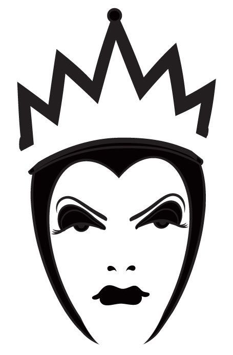 Disney evil queen silhouette google search disney for Evil pumpkin face template