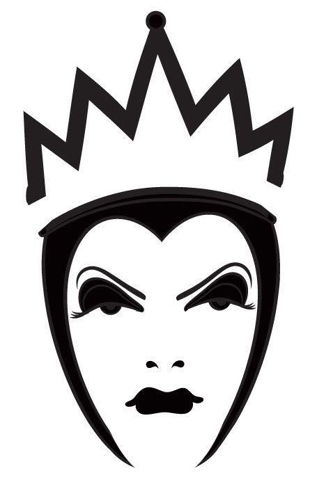 evil queen pumpkin template  disney evil queen silhouette - Google Search | Disney ...